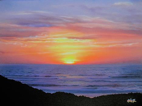 Angie Hamlin - Sunset Over Surf II