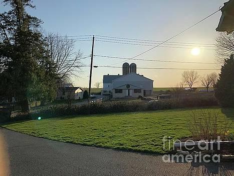 Christine Clark - Sunset Over the Barn