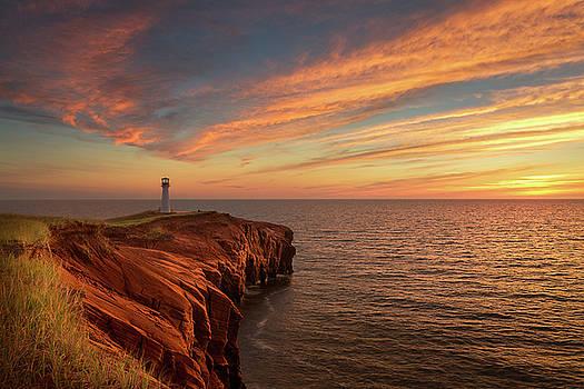 Sunset over the Borgot by Yves Keroack