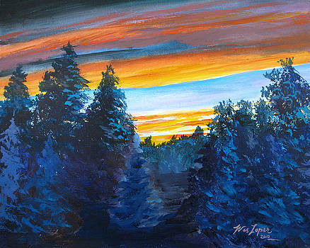 Sunset Over The Cedars by Wes Loper