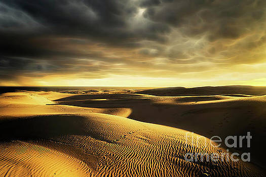 Sunset over the Dunes by Paul Woodford