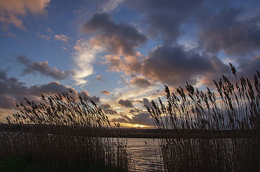 Sunset over the Exe by Pete Hemington