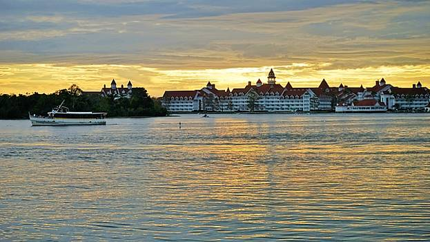 Sunset Over The Grand Floridian by Barkley Simpson