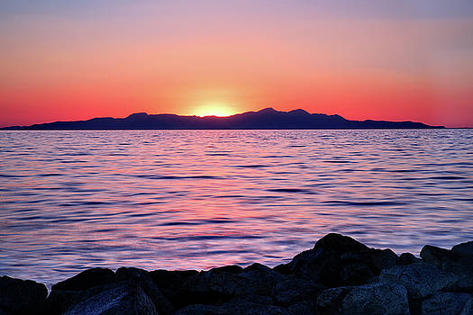 Sunset over the Great Salt Lake by Kayta Kobayashi