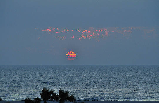 Sunset Over the Gulf by Peter  McIntosh