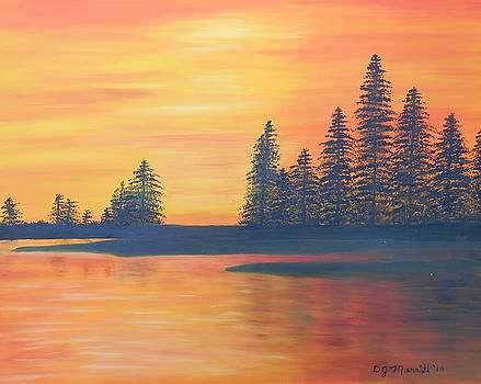 Sunset Over The Lake by Dorothy Merritt