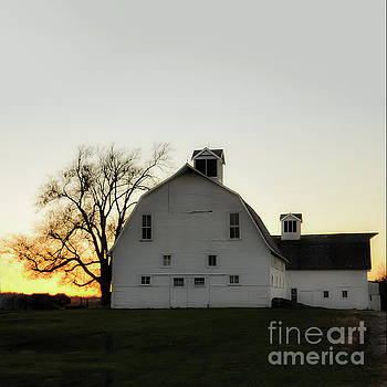 Sunset over the Mare Barn by Leslie Heemsbergen