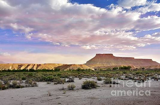 Sunset over the Mesa by Debbie Green