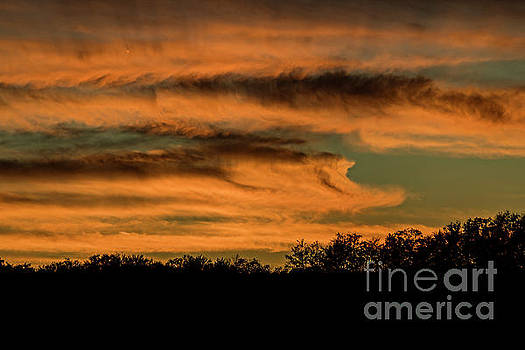 Sunset Over The Mountain 1950T by Doug Berry