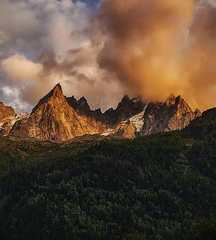 Sunset over the Mountains by Baptiste De Izarra
