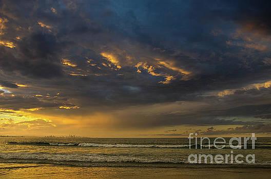 Sunset Over the Ocean by Barbara Dudzinska