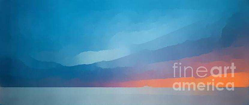 Edward Fielding - Sunset over the ocean