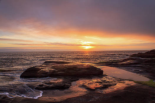 Sunset Over The Ocean by Tyra OBryant