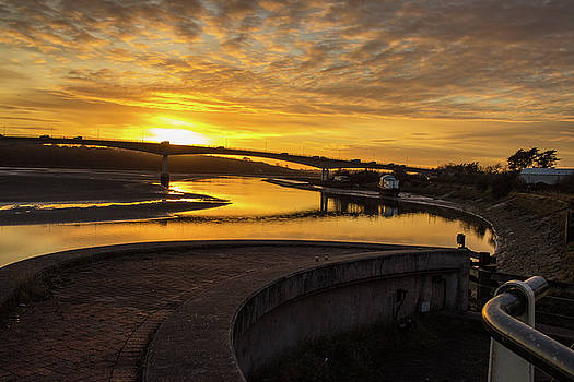 Sunset over the River Taw by Richard Marks