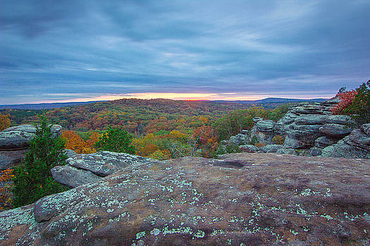 Sunset over the Shawnee Forest by Jackie Novak