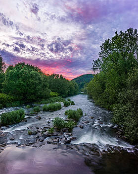 Sunset over the Vistula in the Silesian Beskids by Dmytro Korol