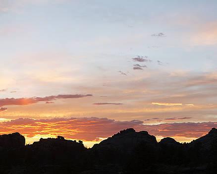 Sunset over Veadawoo 2/4 by D Scott Clark