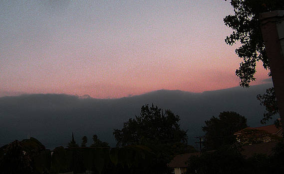 Sunset over Verdugo Hills by Sally Stevens
