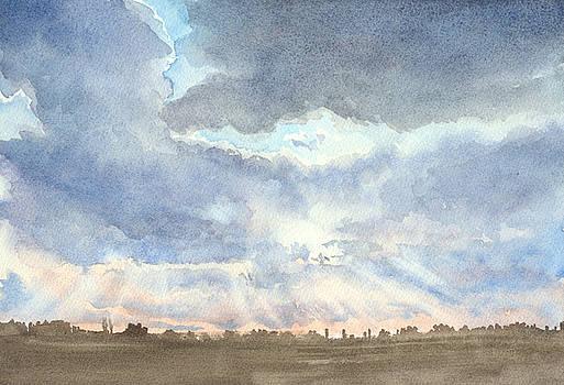 Sunset Over Wharton County by Karen Boudreaux