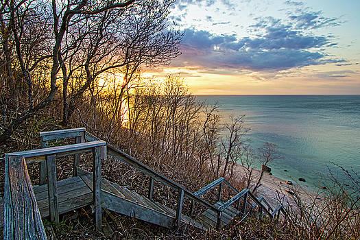 Sunset Overlooking Long Island Sound by Robert Seifert