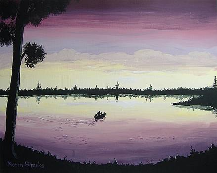 Sunset Paddle by Norm Starks