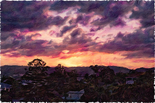 Sunset Painting by Chris Hood