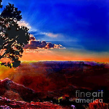 Sunset Painting Grand Canyon by Bob and Nadine Johnston