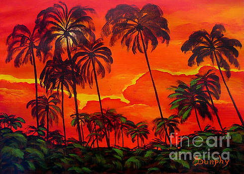 Sunset Palms by Anthony Dunphy