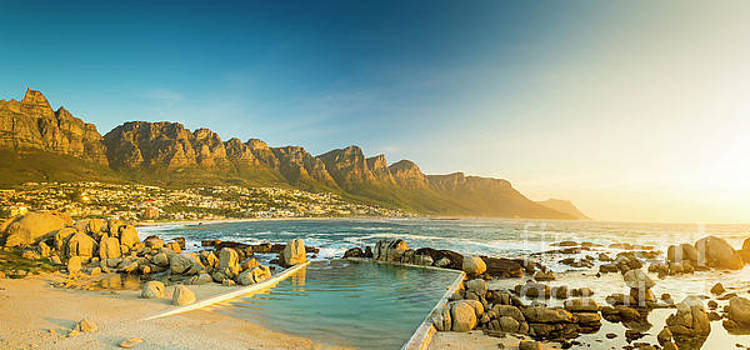 Tim Hester - Sunset Panorama Of Camps Bay In South Africa