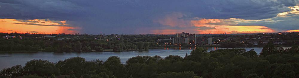 Sunset Panorama over Kingston by Jim Vance