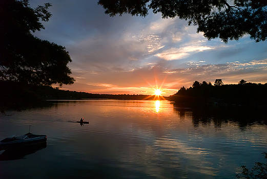 Sunset Panther Lake by Pat Carosone