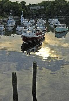 Sunset Perkins Cove Ogunquit Maine by Pauline Margarone