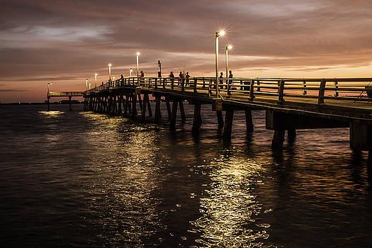 Sunset Pier by Kelly Kennon