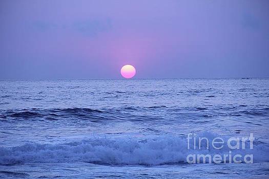 Sunset Playa Zicatela Oaxaca Mexico by Linda Queally