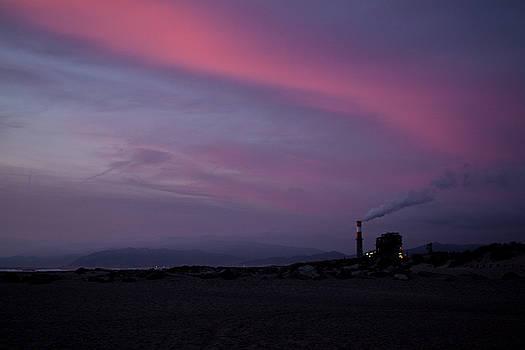 Sunset Power on Oxnard Beach by Mythic Ink