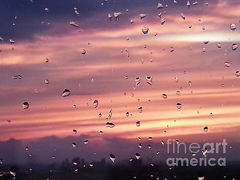 Sunset raindrops by Alana Boltwood
