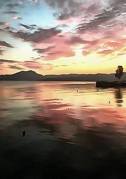 Tracey Harrington-Simpson - Sunset Reflected On Water
