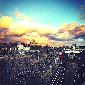 Sunset Reflection Over The Junction by Steve Swindells