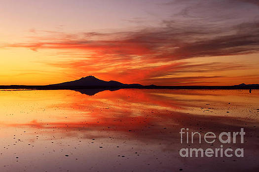 James Brunker - Sunset Reflections Salar de Uyuni