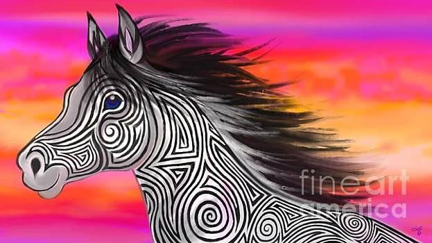 Nick Gustafson - Sunset Ride Tribal Horse