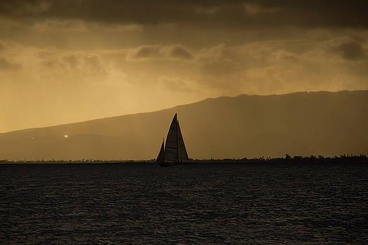 Sunset Sail Horizontal by Debby Richards