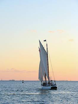 Sunset Sail II by Keiko Richter
