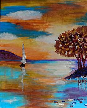 Sunset Sail by Tina Mostov
