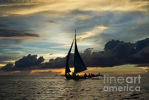 Sunset Sailing in Boracay by John Janicki