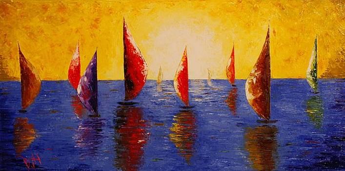 Sunset Sailors by Debra Houston
