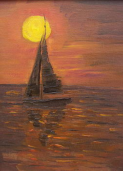 Sunset Sails by Karen Masters