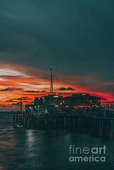 Sunset Santa Monica Pier by Art K
