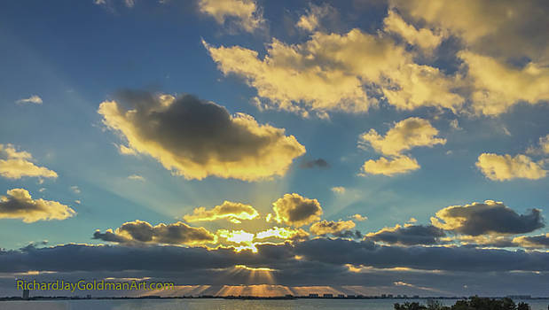Sunset Sarasota Bay by Richard Goldman