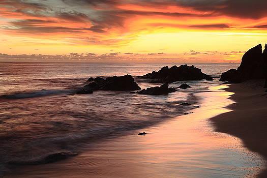 Sunset Seascape St. Thomas by Roupen  Baker