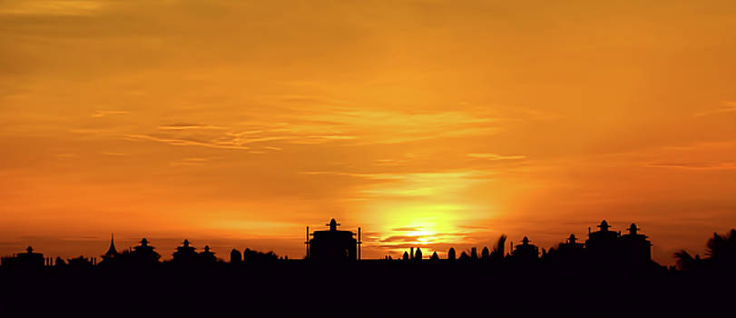 Sunset silhouette by Paul Jarrett